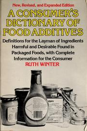 Cover of: Consum Dict Food Additives Rev | Crown