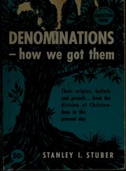 Cover of: Denominations--how we got them
