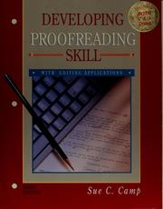 Developing proofreading skill by Sue C. Camp