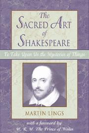 Cover of: sacred art of Shakespeare | Martin Lings