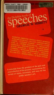 Cover of: The Dolphin book of speeches