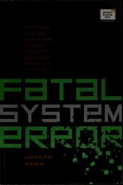 Cover of: Fatal system error | Joseph Menn