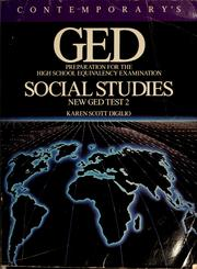 Cover of: GED: Preparation for the high school equivalency examination social studies  | Karen Scott Digilio