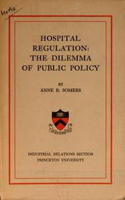 Cover of: Hospital regulation