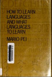 Cover of: How to learn languages and what languages to learn