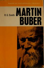 Martin Buber by Ronald Gregor Smith