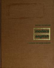 Cover of: Modern English | William E. Rutherford