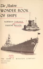 Cover of: The modern wonder book of ships | Norman V. Carlisle