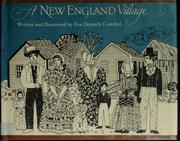 Cover of: A New England village | Eva Deutsch Costabel