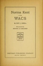 Cover of: Norma Kent of the WACS