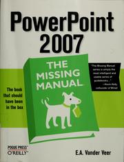 Cover of: PowerPoint 2007 by Emily A. Vander Veer