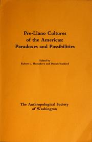 Cover of: Pre-Llano cultures of the Americas