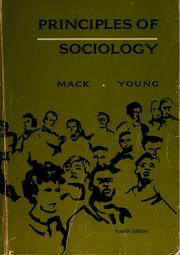 Cover of: Principles of sociology | Young, Kimball