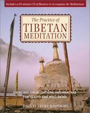 Cover of: The Practice of Tibetan Meditation | Dagsay Tulku Rinpoche