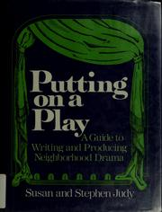 Cover of: Putting on a play