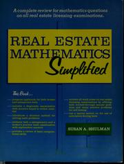 Cover of: Real estate mathematics simplified
