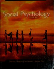 Cover of: Social psychology | Sharon S. Brehm