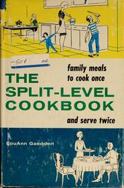 Cover of: The split-level cookbook