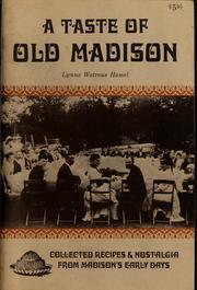 Cover of: A taste of old Madison