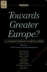 Cover of: Towards Greater Europe?