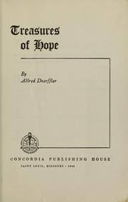 Cover of: Treasures of hope