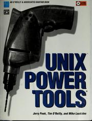 Cover of: UNIX POWER TOOLS