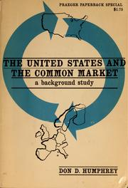Cover of: The United States and the Common Market
