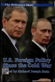 Cover of: U.S. foreign policy since the Cold War