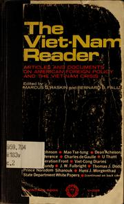 The Viet-Nam reader by Marcus G. Raskin, Marcus G. Raskin