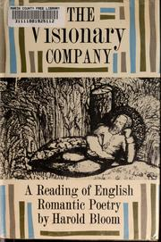 Cover of: The visionary company: a reading of English romantic poetry.