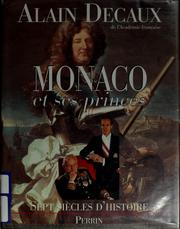 Cover of: Monaco et ses princes