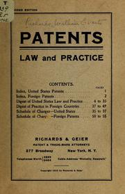 Cover of: Patent law and practice ...