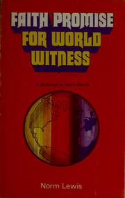 Cover of: Faith promise for world witness