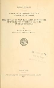 Cover of: The duties of men engaged as physical directors or athletic coaches in high schools