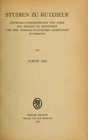 Cover of: Studien zu Rutebeuf