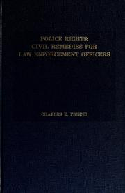 Cover of: Police rights | Charles E. Friend