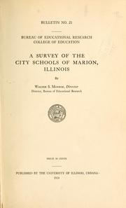 Cover of: A survey of the city schools of Marion, Illinois