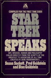 Cover of: Star trek speaks | Susan Sackett