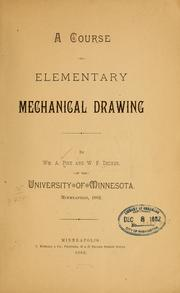 Cover of: A course in elementary mechanical drawing