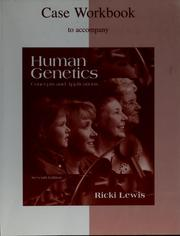 Cover of: Case workbook to accompany Human genetics