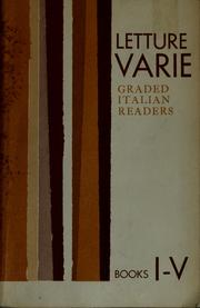 Cover of: LETTURE varie