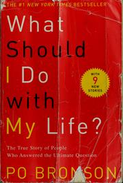 Cover of: What should I do with my life?