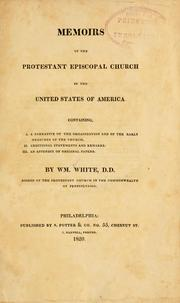 Cover of: Memoirs of the Protestant Episcopal church in the United States of America