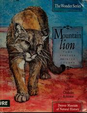 Cover of: Mountain lion