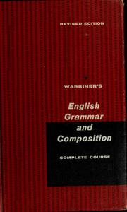Cover of: English grammar and composition | John E. Warriner