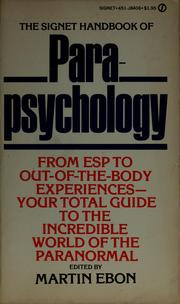Cover of: The Signet handbook of parapsychology