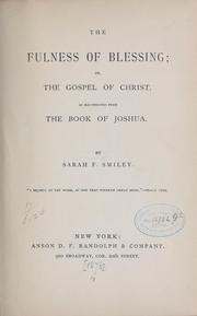 Cover of: The fulness of blessing | Sarah F. Smiley