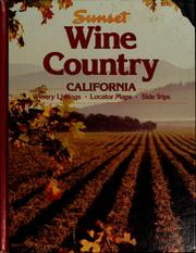 Cover of: Sunset wine country California
