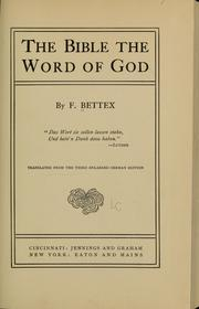 Cover of: The Bible the word of God