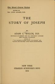 Cover of: The story of Joseph